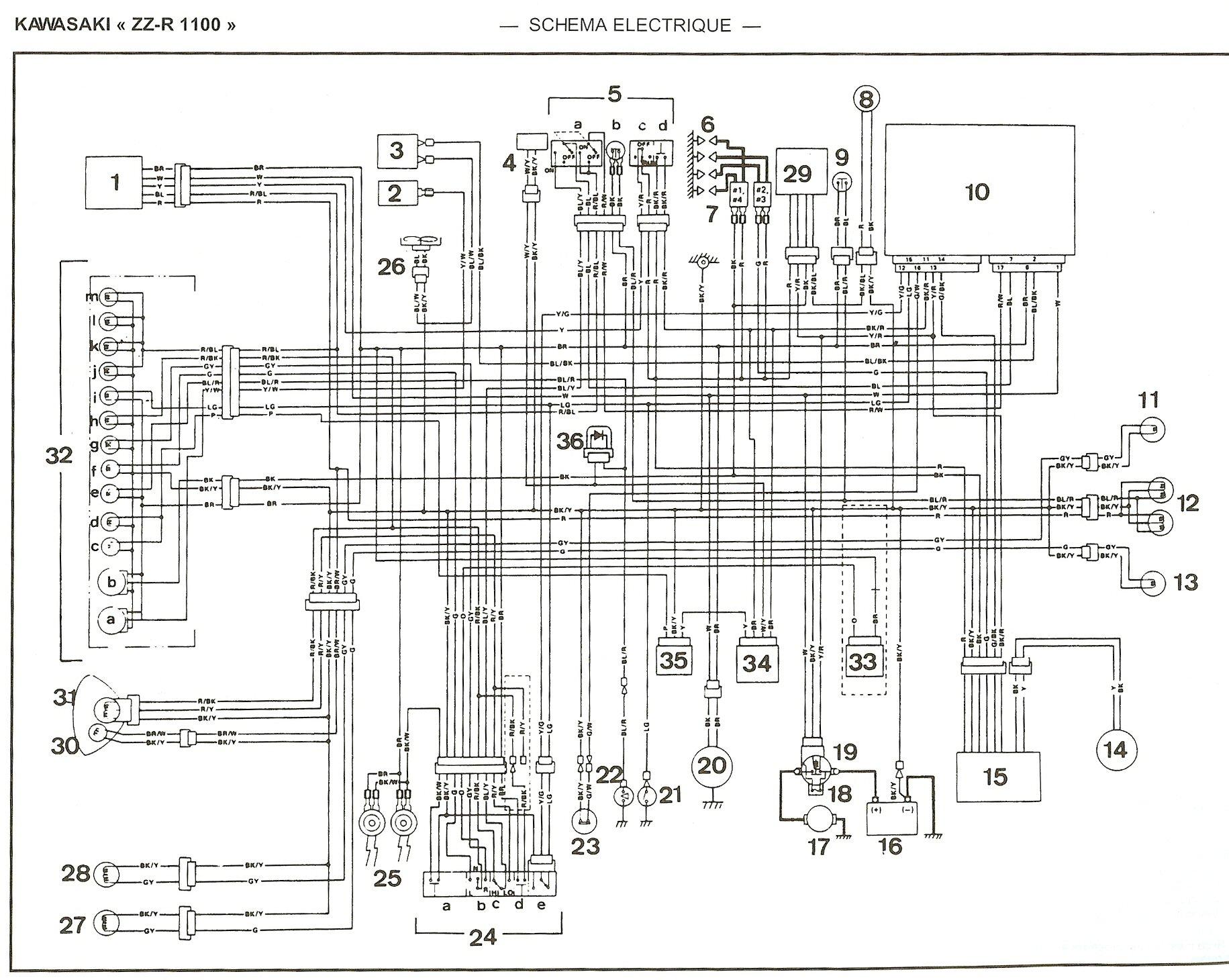 schema electrique zzr 600